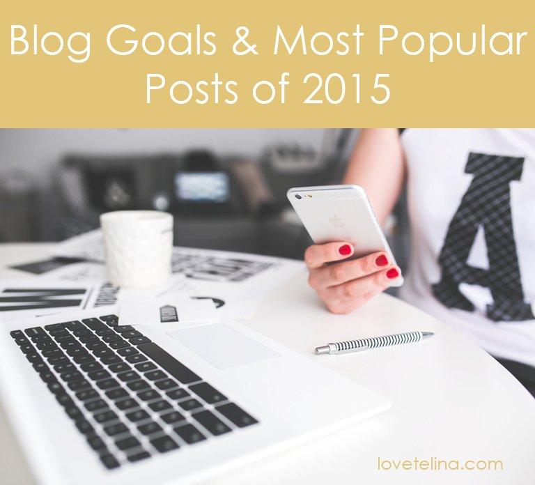 Blog Goals & Most Popular Posts of 2015
